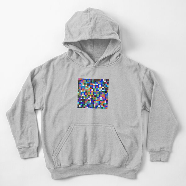 #Design, #pattern, #illustration, #art, abstract, square, pixel, color image Kids Pullover Hoodie