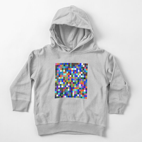 #Design, #pattern, #illustration, #art, abstract, square, pixel, color image Toddler Pullover Hoodie