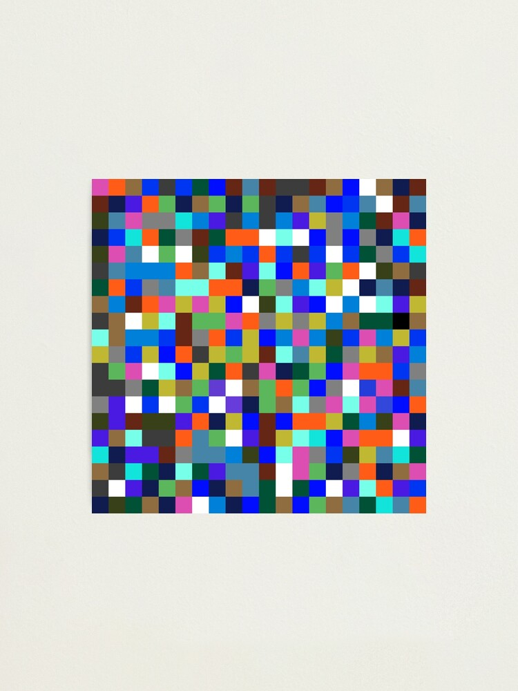 Alternate view of #Design, #pattern, #illustration, #art, abstract, square, pixel, color image Photographic Print