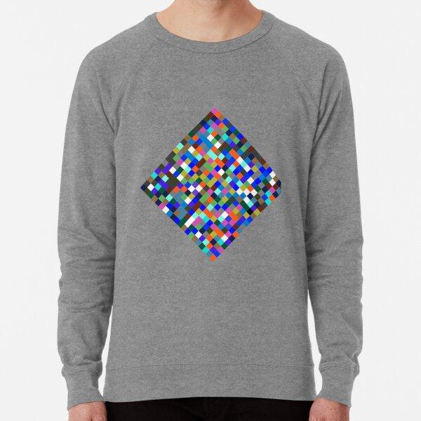 #Design, #pattern, #illustration, #art, abstract, square, pixel, color image Lightweight Sweatshirt