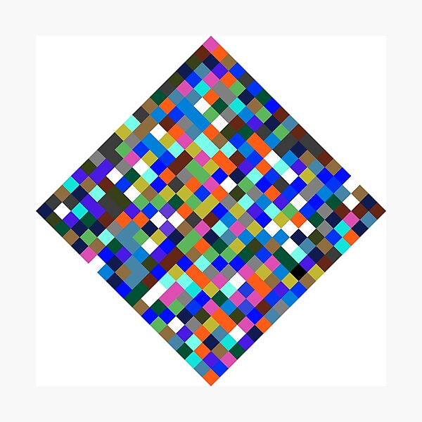 #Design, #pattern, #illustration, #art, abstract, square, pixel, color image Photographic Print