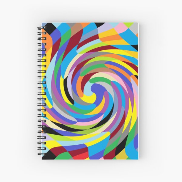 #Design, #pattern, #illustration, #art, abstract, square, pixel, color image Spiral Notebook