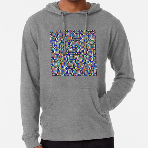 #Design, #pattern, #illustration, #art, abstract, square, pixel, color image Lightweight Hoodie