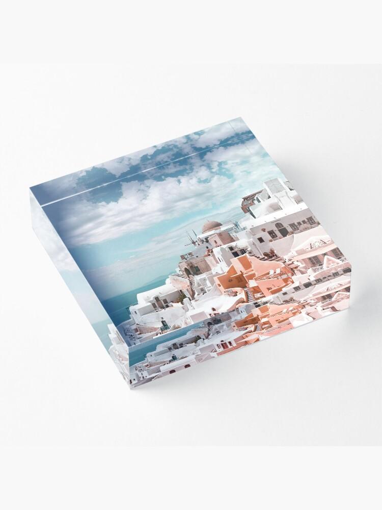 Alternate view of Santorini Oia Greece Acrylic Block