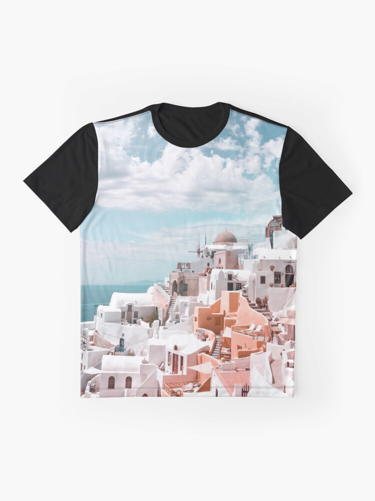 Alternate view of Santorini Oia Greece Graphic T-Shirt
