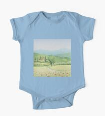 Tuscan Vineyard, Tuscany, Italy One Piece - Short Sleeve