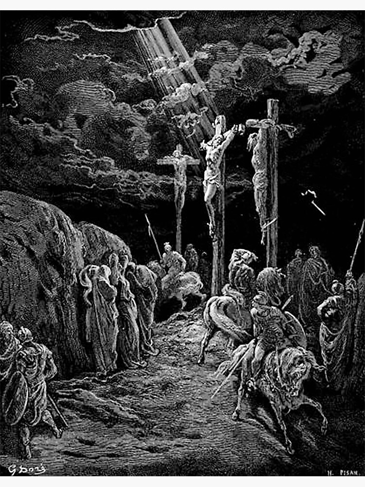 Gustave Dore, The Crucifixion, Bible, Biblical, Christ, Crucify     Photographic Print