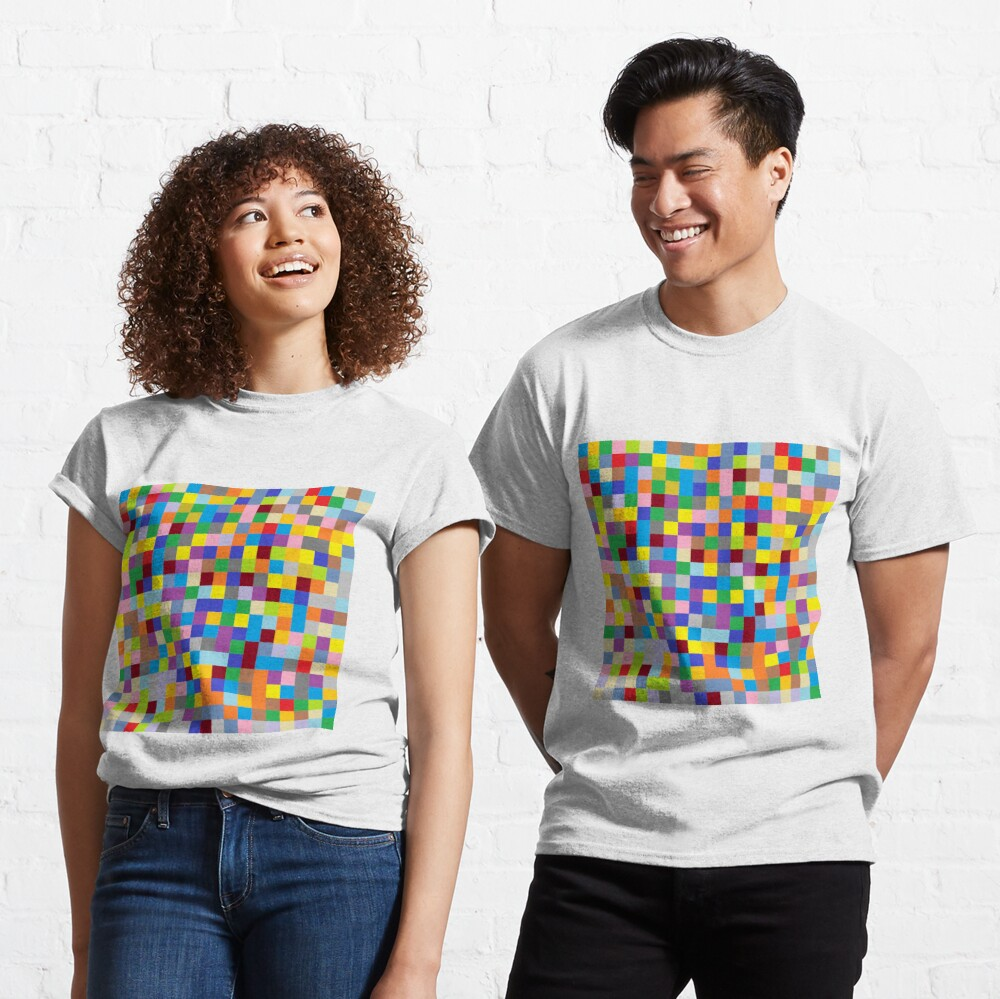 #Design, #pattern, #illustration, #art, abstract, square, pixel, color image Classic T-Shirt