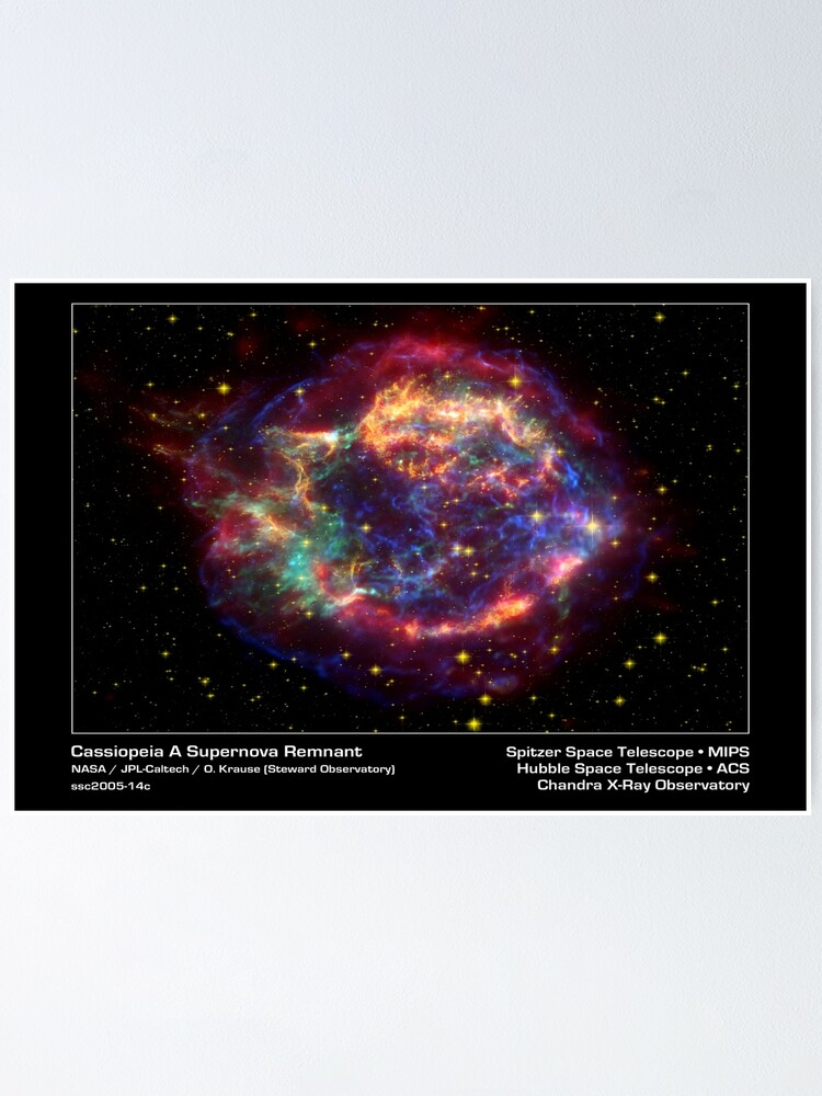 Alternate view of Cassiopeia Constellation Poster