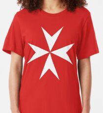 Cross of the Order of St. John. MALTA, MALTESE. Slim Fit T-Shirt