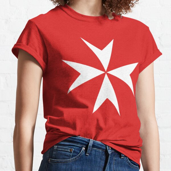 Cross of the Order of St. John. MALTA, MALTESE. Classic T-Shirt