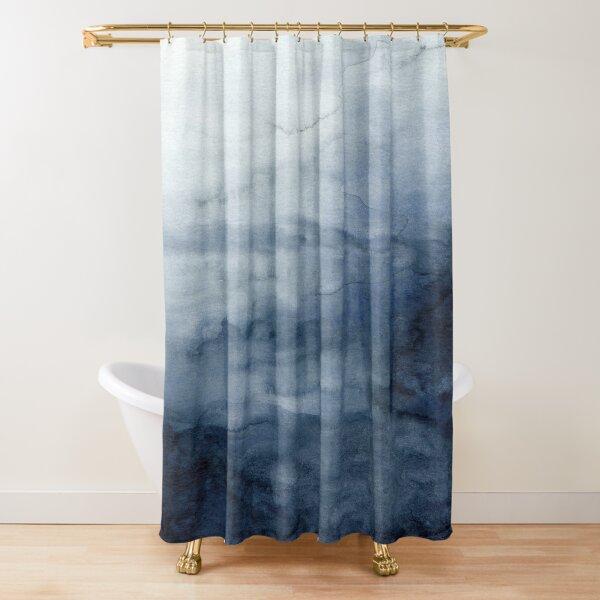 Indigo Abstract Painting   No.2 Shower Curtain