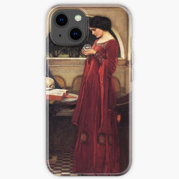 The Crystal Ball (1902) By J W Waterhouse iPhone Soft Case