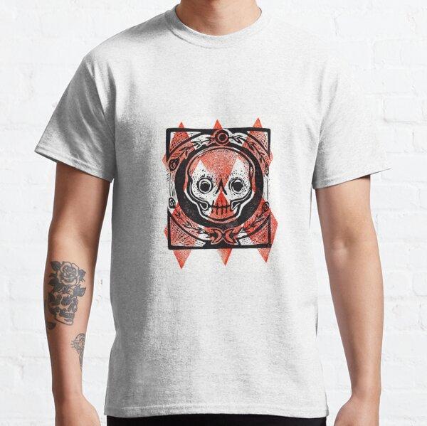 Diamond Skull Linocut Classic T-Shirt