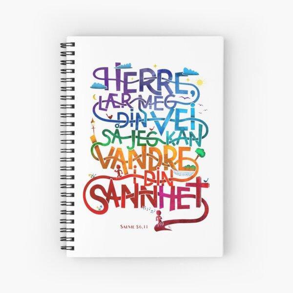 Herre lær meg din vei Spiral Notebook