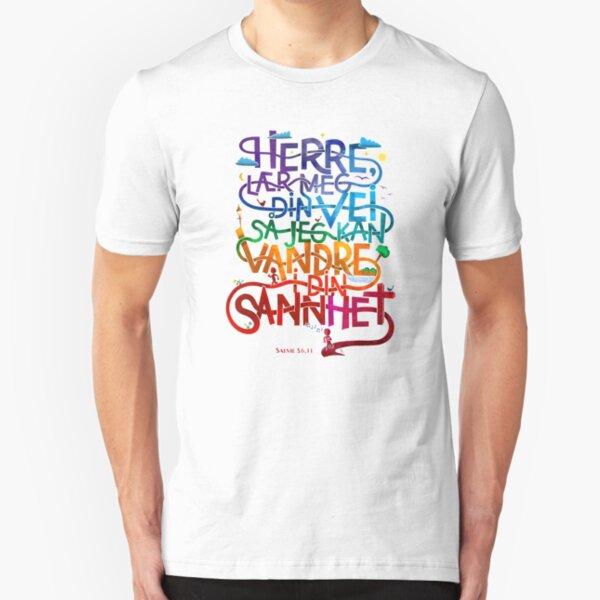 Herre lær meg din vei Slim Fit T-Shirt