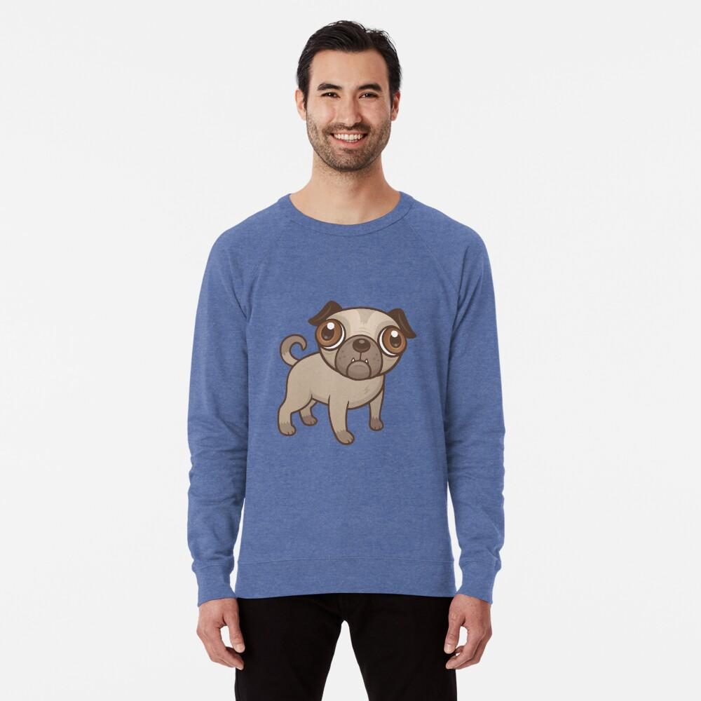 Mops-Welpen-Karikatur Leichter Pullover