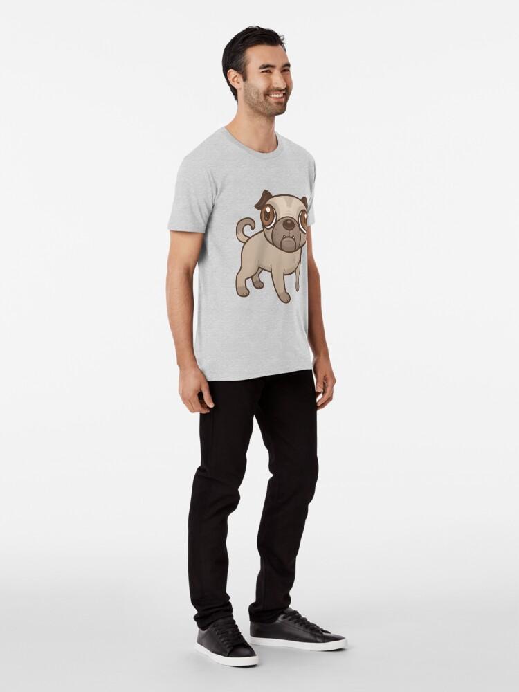 Alternative Ansicht von Mops-Welpen-Karikatur Premium T-Shirt