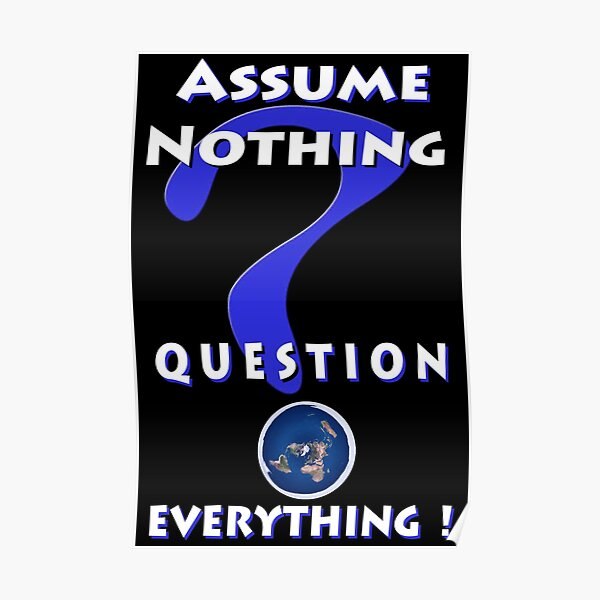 Assume Nothing Question Everything! Poster
