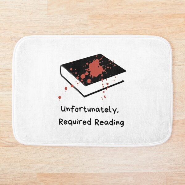 Unfortunately Required Reading Logo Bath Mat