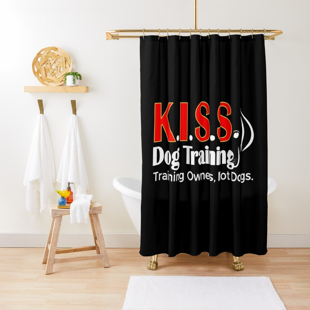 New Logo No Phone Number (White Lettering) Shower Curtain