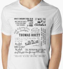 thomas rhett life changes album lyrics V-Neck T-Shirt