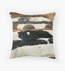 Cow hide texture Throw Pillow