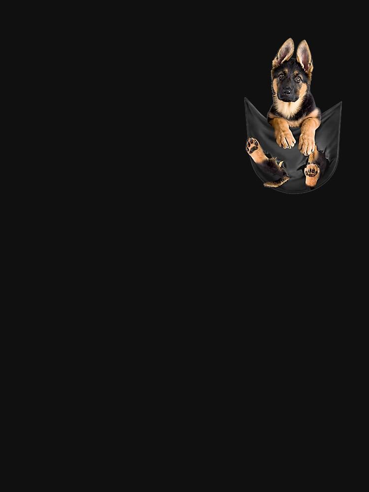 German Shepherd In Pocket Funny Dog Lover by mattwalsh1419
