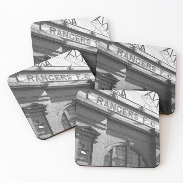 Ibrox Black and white Coasters (Set of 4)