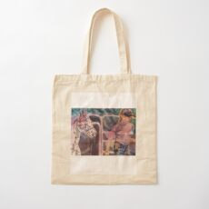 Young Trainer and Appaloosa Cotton Tote Bag