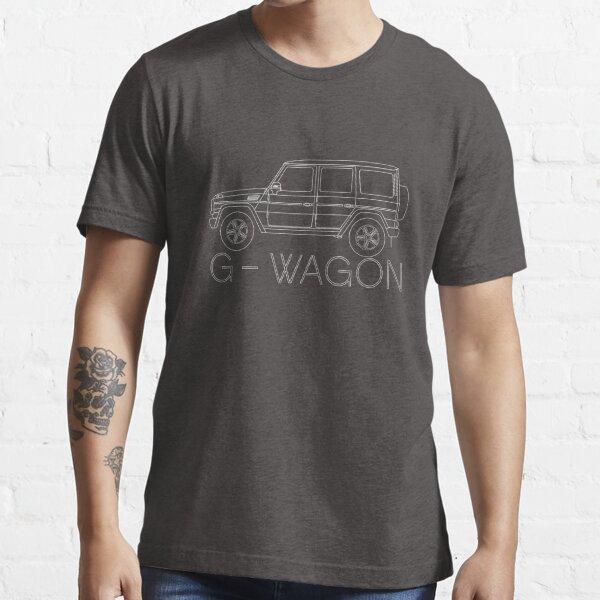 Euro Geländewagen 4x4 Fahrzeug weiß Essential T-Shirt