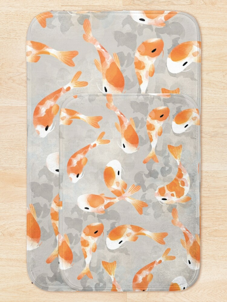Alternate view of Japanese Koi Fish Bath Mat