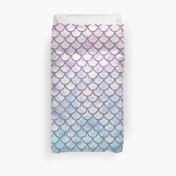 Pastel Mermaid Scales Pattern Duvet Cover