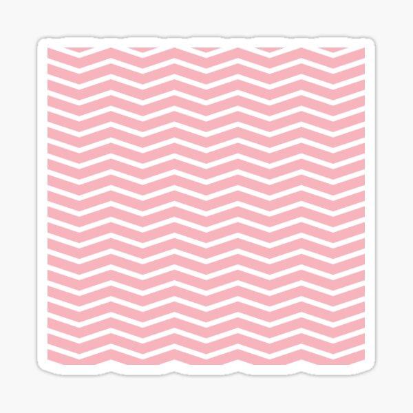 Coral Chevron Pattern 3 Sticker
