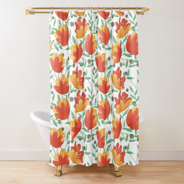 Light Afternoon Blossoms Shower Curtain