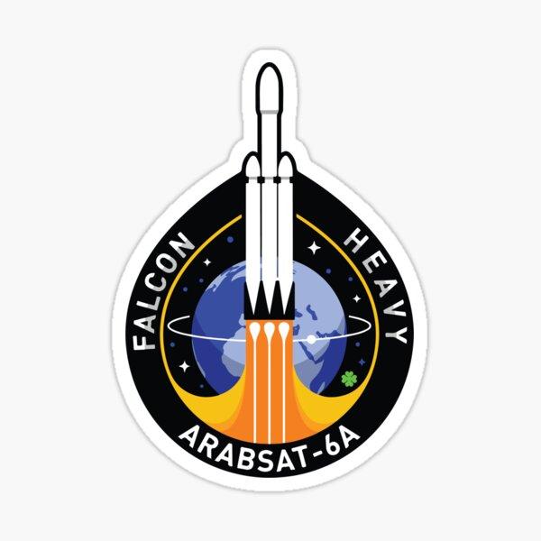Space X Mission Patch - Falcon Heavy Arabsat-6A  Sticker