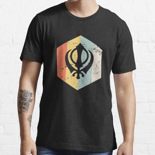 Retro Vintage Khanda, Sikhism Gift Essential T-Shirt