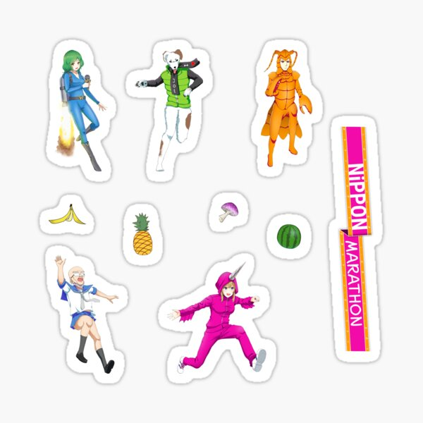 Nippon Marathon Stickers: Let's Party Sticker