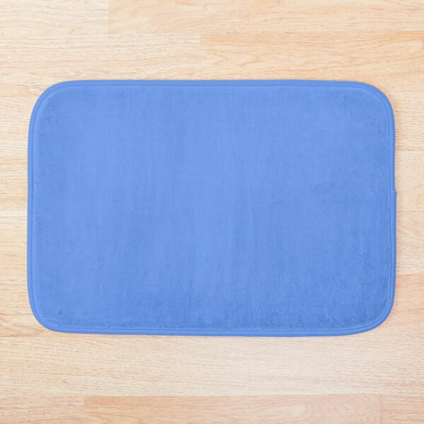 PLAIN SOLID CORNFLOWER BLUE - ONE OF THE MANY SHADES OF BLUE BY OZCUSHIONS  Bath Mat