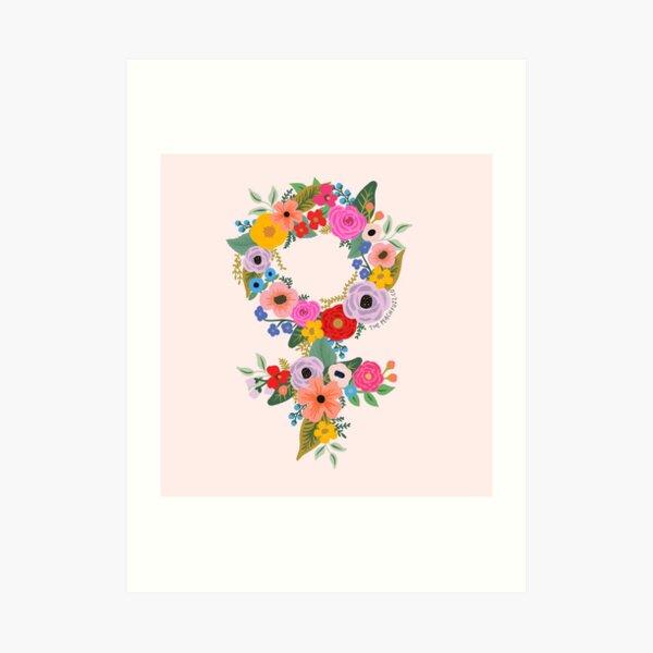 Floral Feminist - The Peach Fuzz Art Print