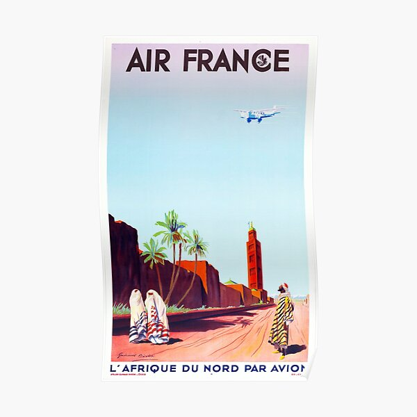 Poster Air France L'Afrique du Nord par Avion 1934 Poster
