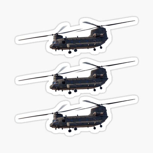 The Boeing CH-47 Chinook Set of 3 Sticker