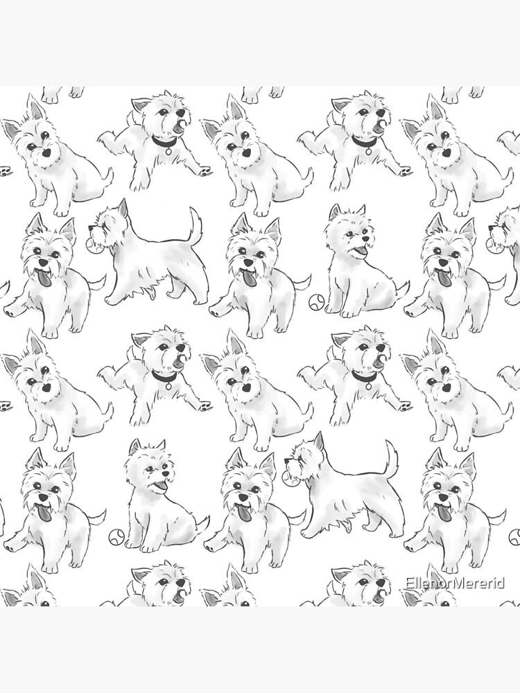 West Highland Terrier by EllenorMererid