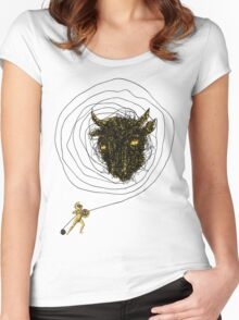 Theseus, the Minotaur, and the Thread Maze Women's Fitted Scoop T-Shirt