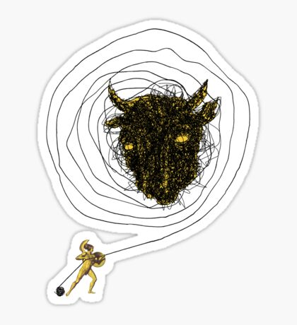 Theseus, the Minotaur, and the Thread Maze Sticker