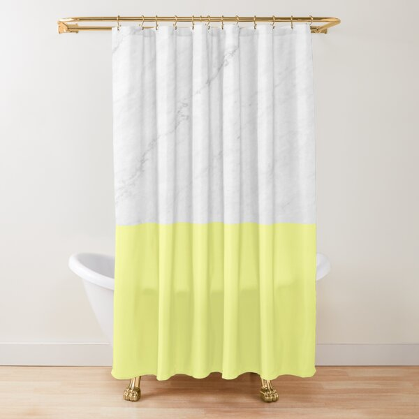 Marble And Yellow Shower Curtain