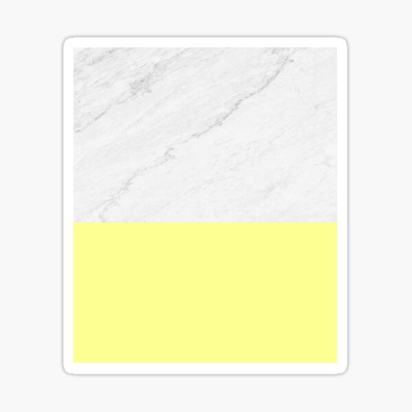 Marmor Und Gelb Sticker