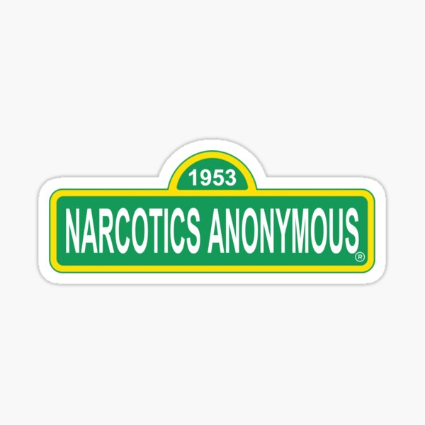Trendy Pop Culture Parody Narcotics Anonymous NA AA Recovery  Sticker