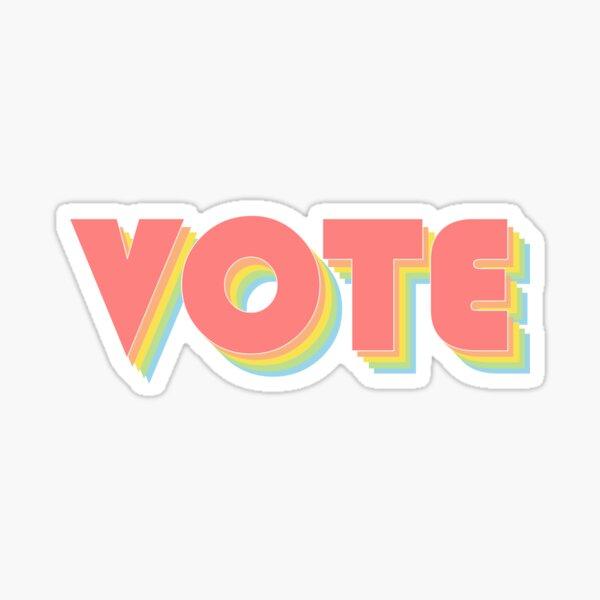 Rainbow Vote Sticker