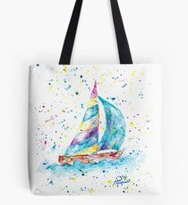 Sailboat by Jan Marvin Tote Bag